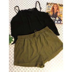 Forever21®️ Olive Green Elastic Short.